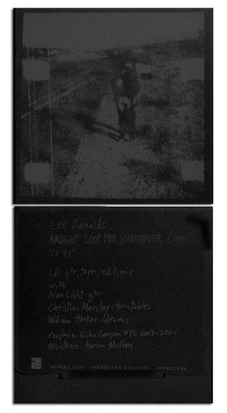 Lee Ranaldo Ambient Loop For Vancouver CD